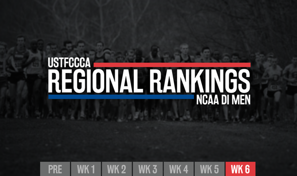 Final NCAA DI Men's Regional Rankings Set Stage for Regional Championships