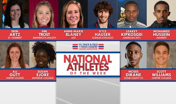 NCAA & NJCAA XC National Athletes of the Week (October 10)