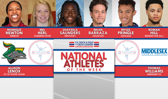 NCAA & NJCAA Indoor T&F National Athletes of the Week (December 13)