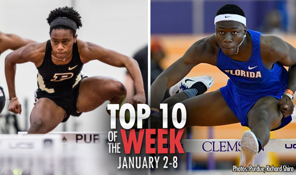Top-10 Marks of the Collegiate Weekend: January 2-8, 2017