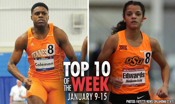 Top-10 Marks of the Collegiate Weekend: January 9-15, 2017
