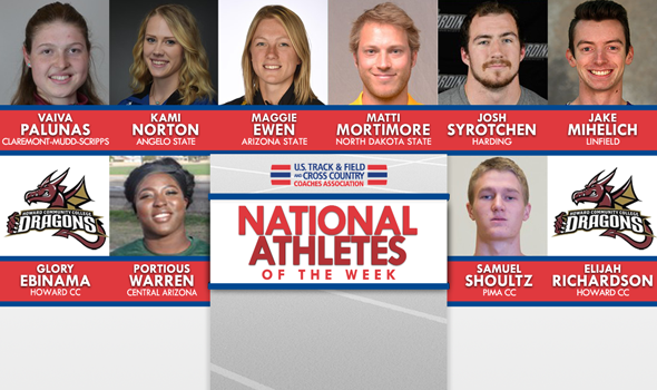 NCAA & NJCAA Outdoor T&F National Athletes of the Week (March 21)