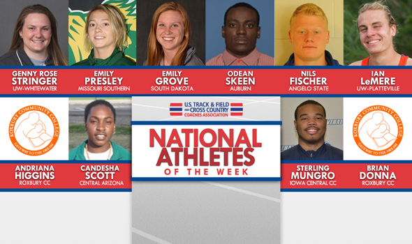 NCAA & NJCAA Outdoor National Athletes of the Week (April 25)