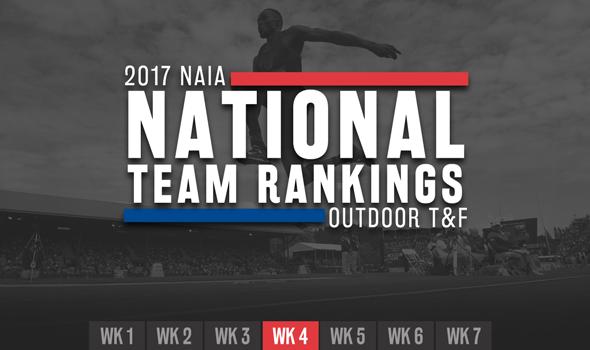 2017 NAIA Outdoor Team Rankings – Week 4