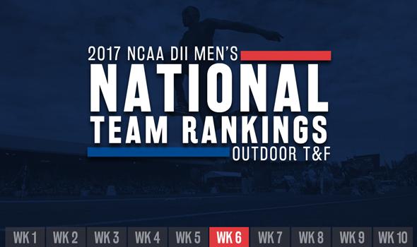 2017 NCAA DII Men's Outdoor Team Rankings – Week 6