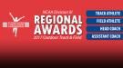 NCAA DIII Regional Award Winners For 2017 Outdoor T&F Season