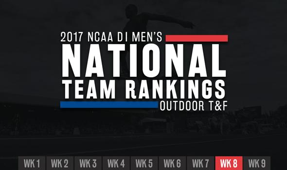 2017 NCAA DI Men's Outdoor Team Rankings – Week 8