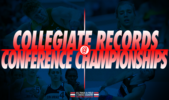 collegiate records at conference championship weekend ustfccca